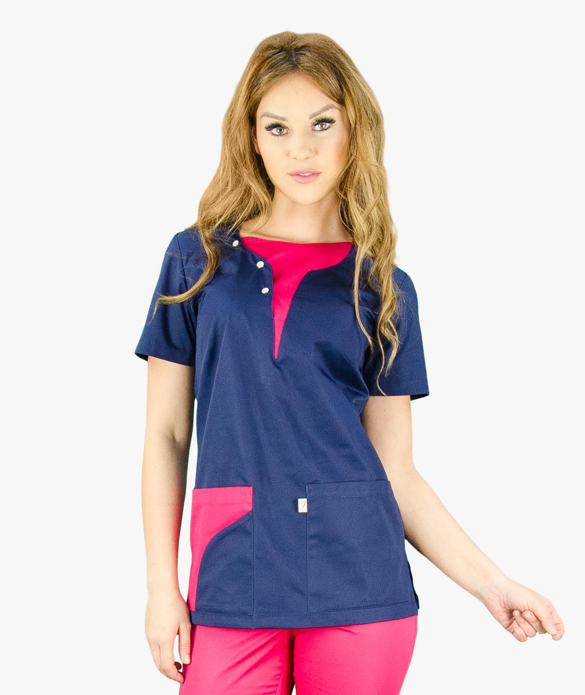 Granatowa bluza medyczna Ala