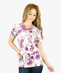 Multikolorowa bluza medyczna Gabi Premium
