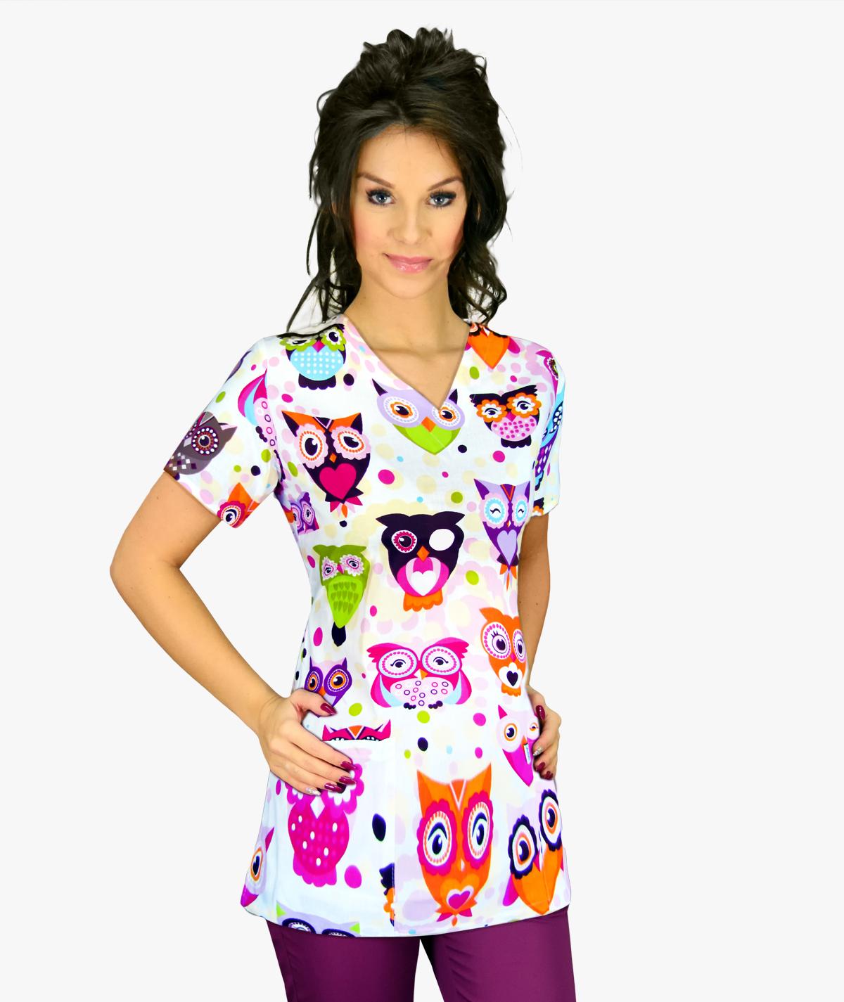 Multikolorowa bluza medyczna Naomi