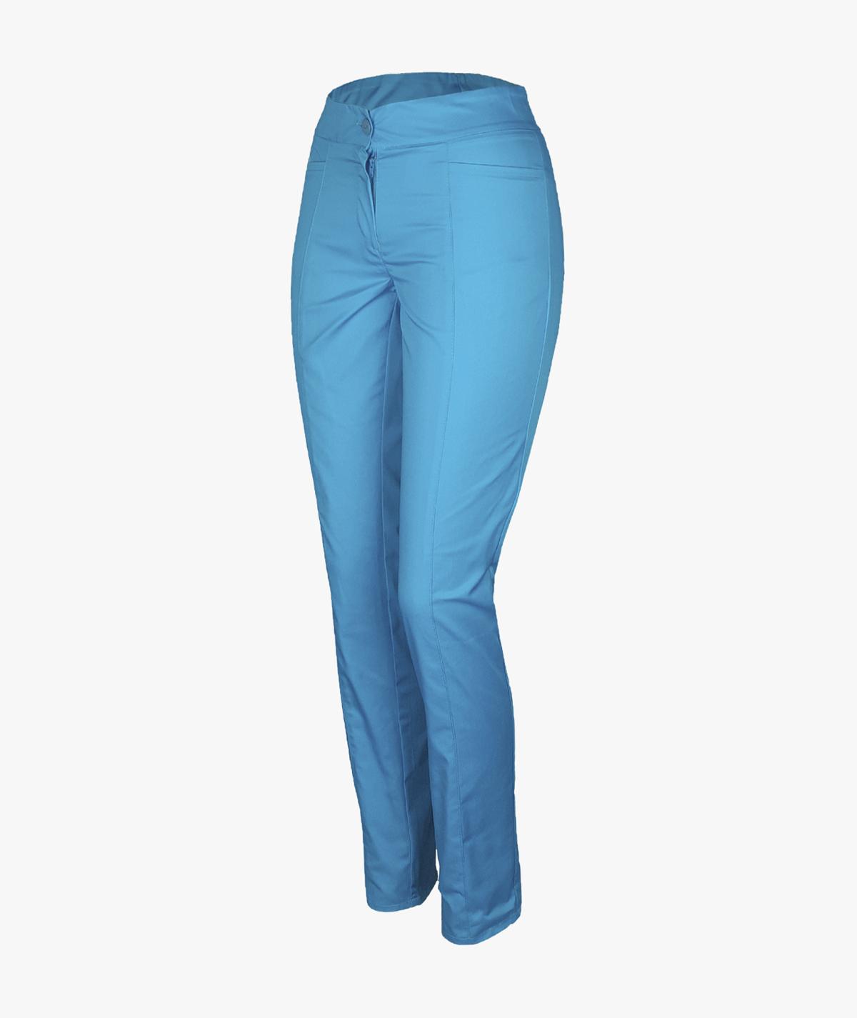 Turkusowe spodnie rurki medyczne damskie