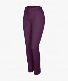 Śliwkowe spodnie rurki medyczne damskie