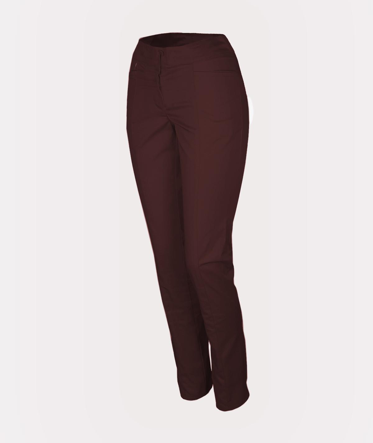 Brązowe spodnie rurki medyczne damskie