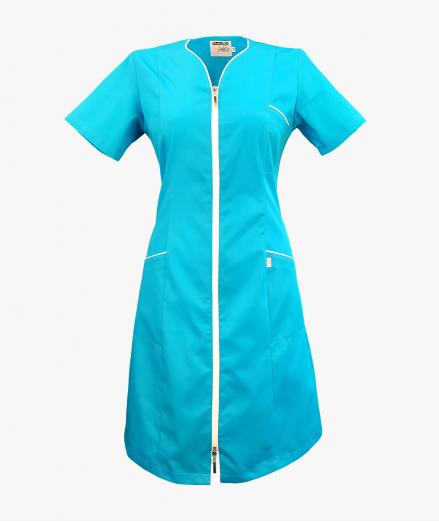 Turkusowa sukienka medyczna Eliza