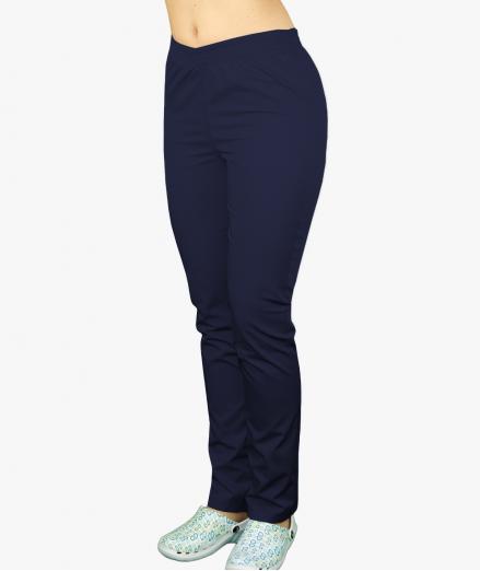 Granatowe spodnie medyczne na gumie