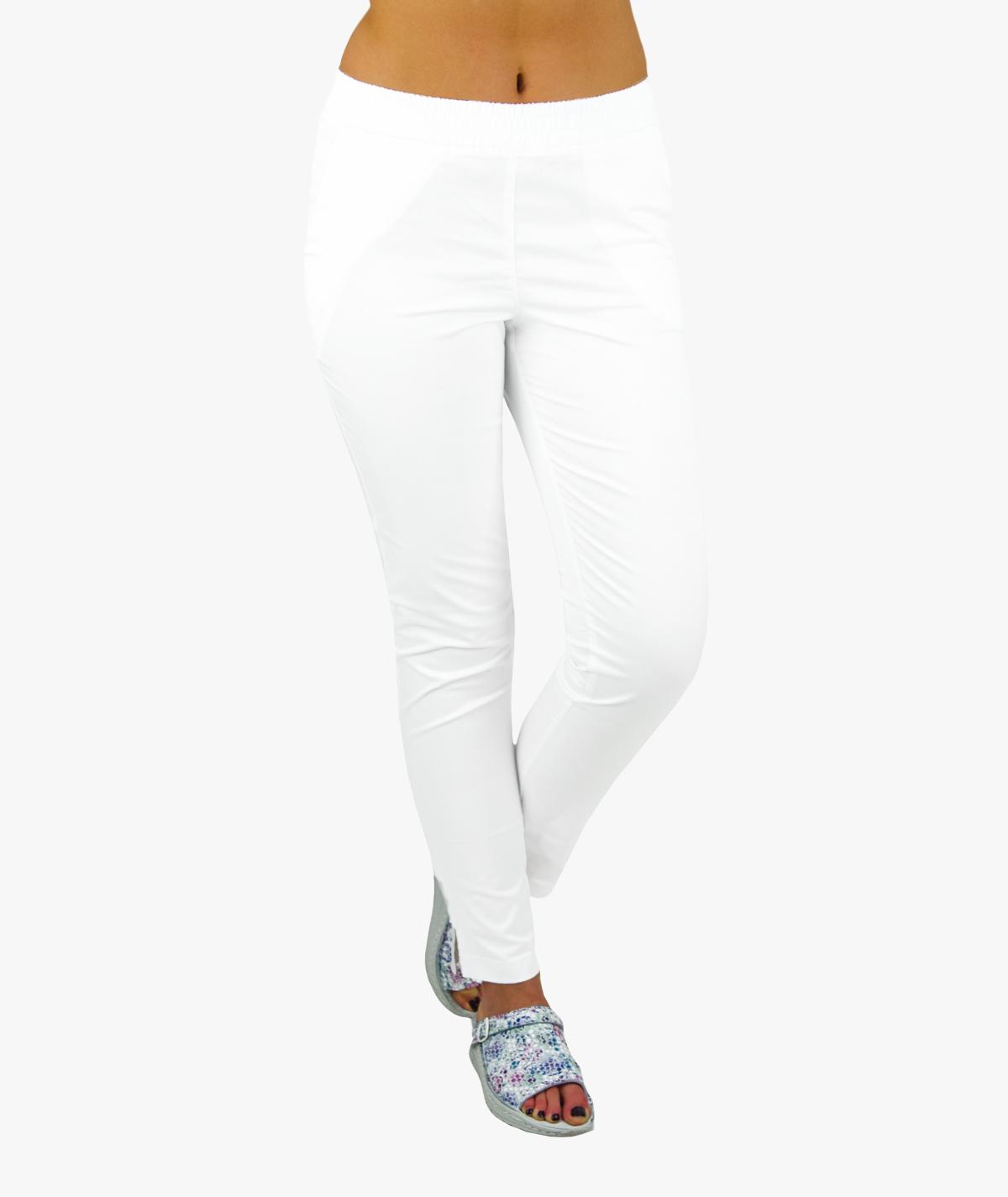 Damskie spodnie medyczne SLIM FLEXY białe