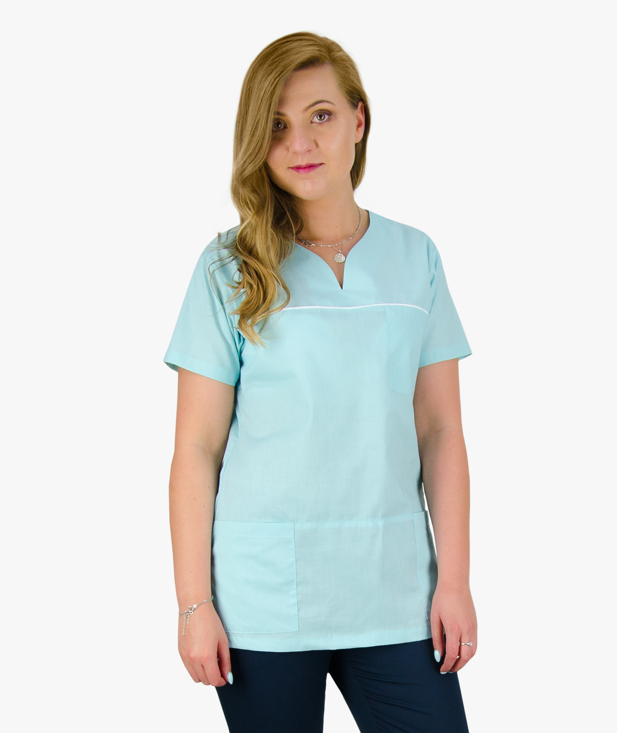 Jasno niebieska bluza medyczna Ewa