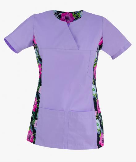 Bluza medyczna we wzorki