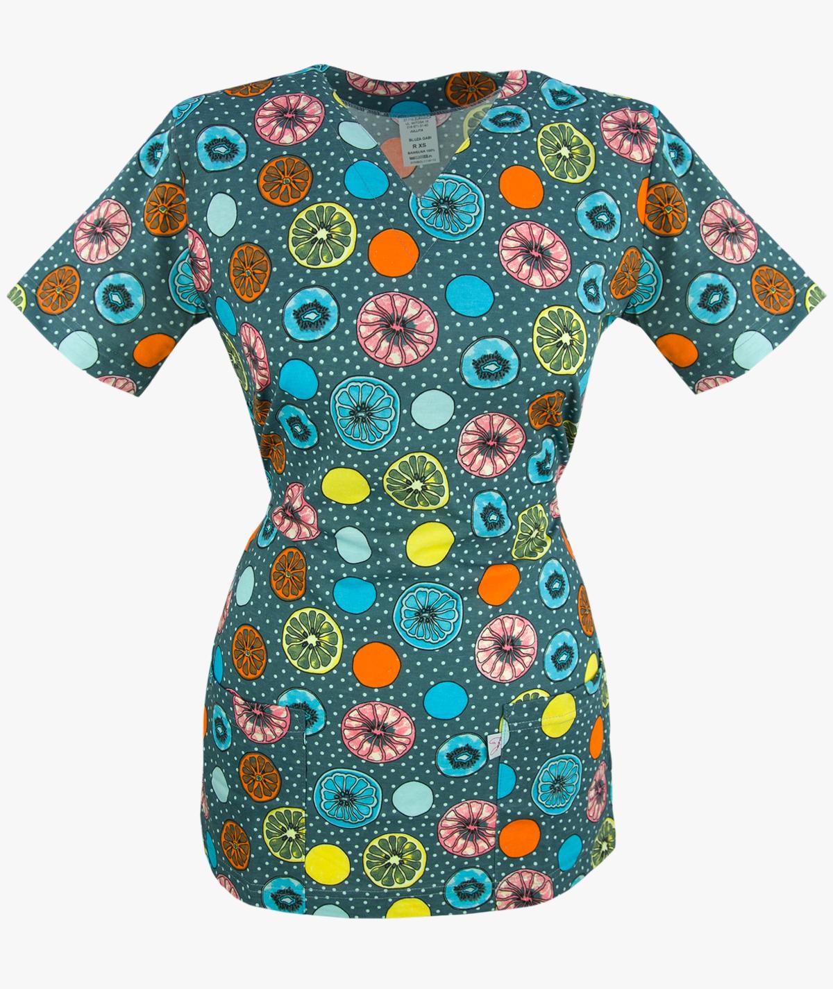Multikolorowa bluza medyczna Gabi