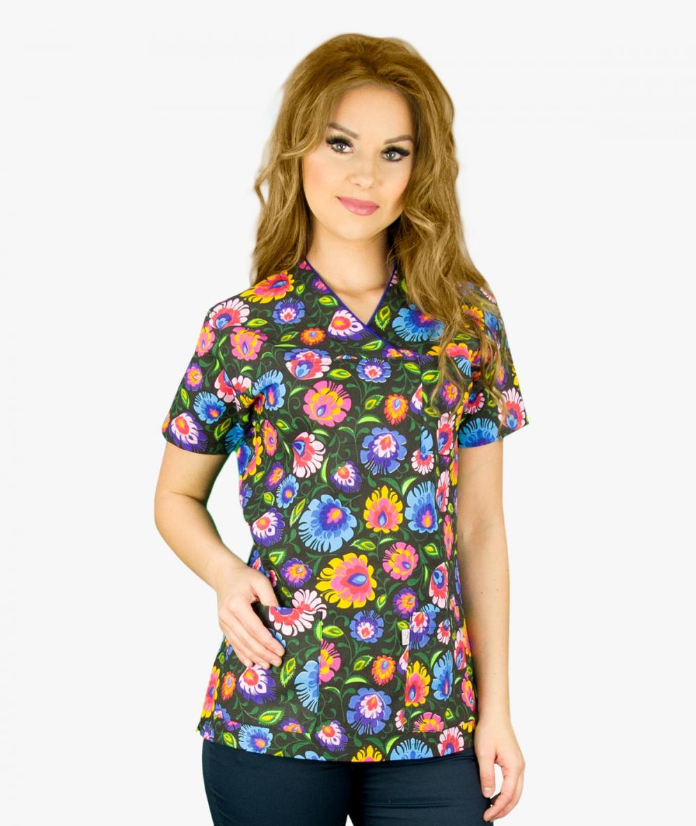 Multikolorowa bluza medyczna Oxana