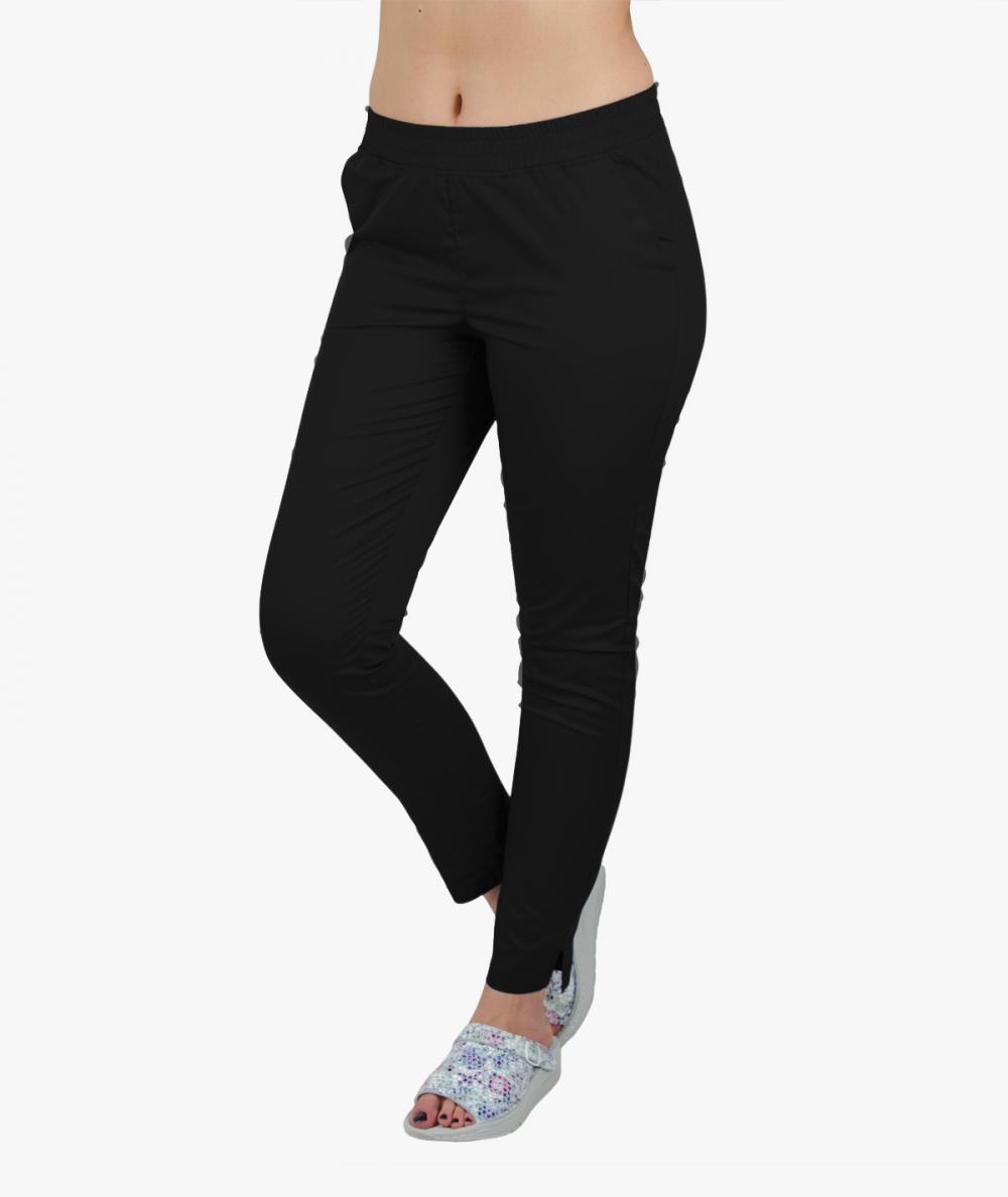 Damskie spodnie medyczne SLIM FLEXY czarne