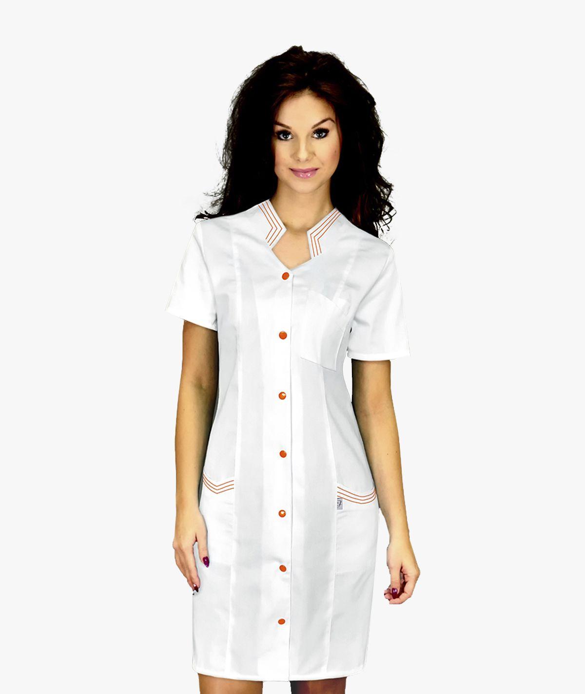 Biała sukienka medyczna Otylia