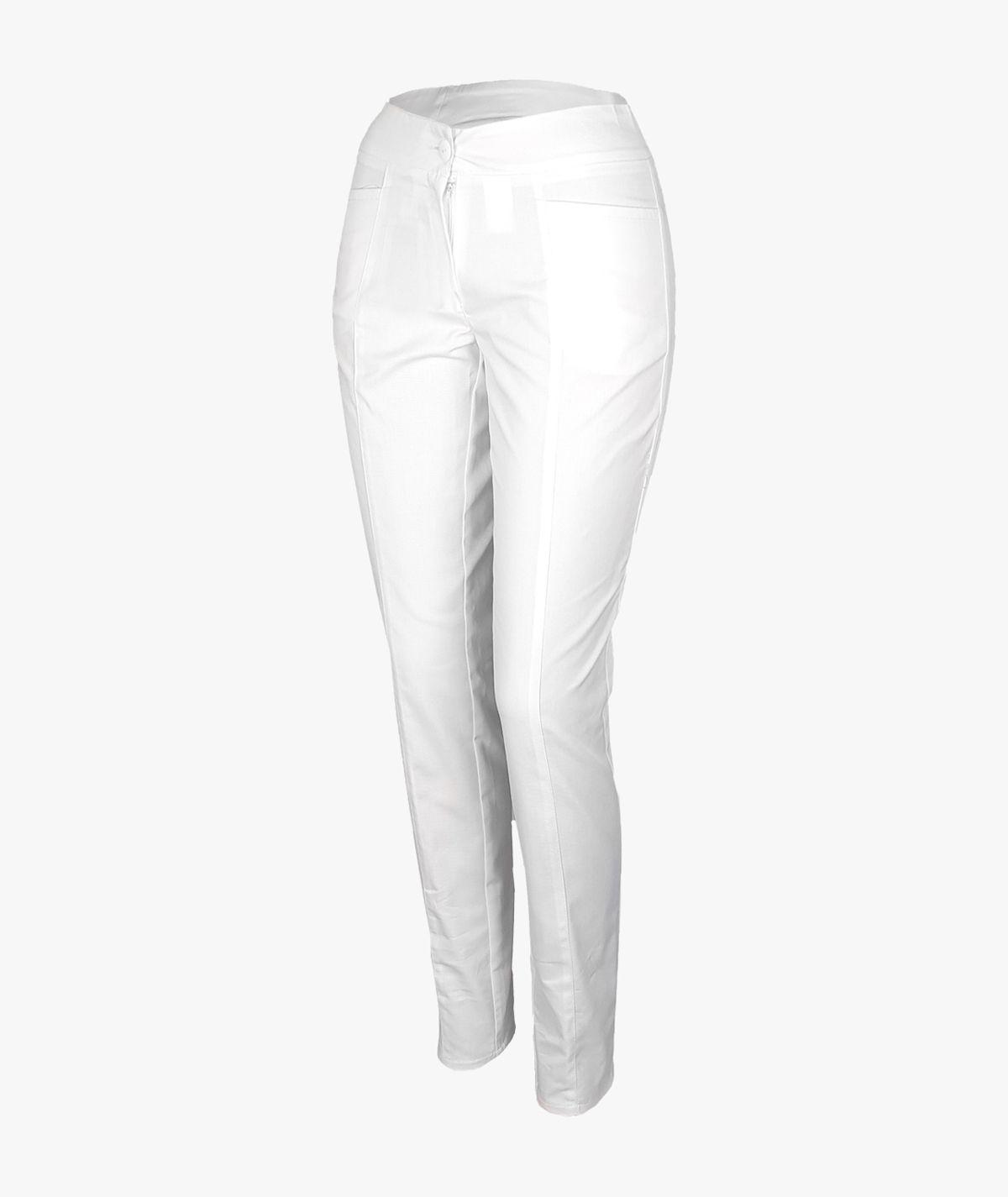 Białe spodnie rurki medyczne damskie