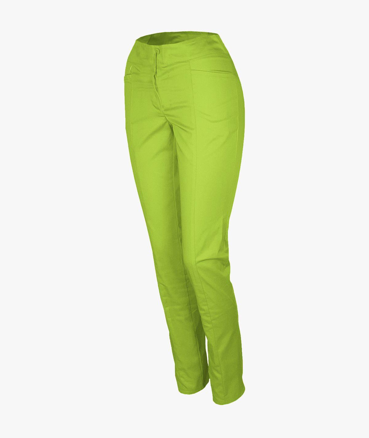 Groszkowe spodnie rurki medyczne damskie