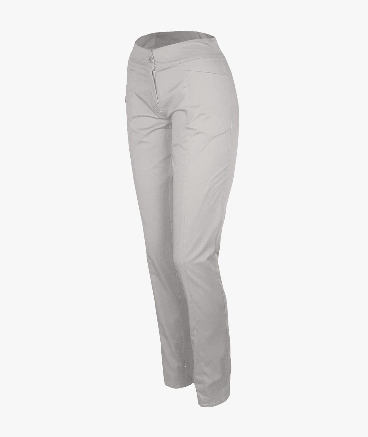 Popielate spodnie rurki medyczne damskie