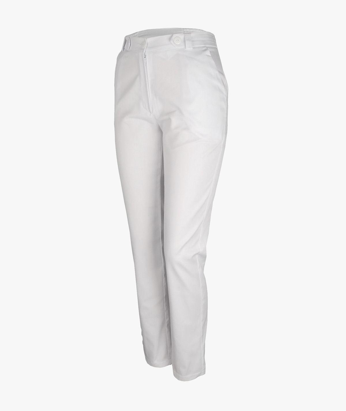 Białe spodnie medyczne Mira