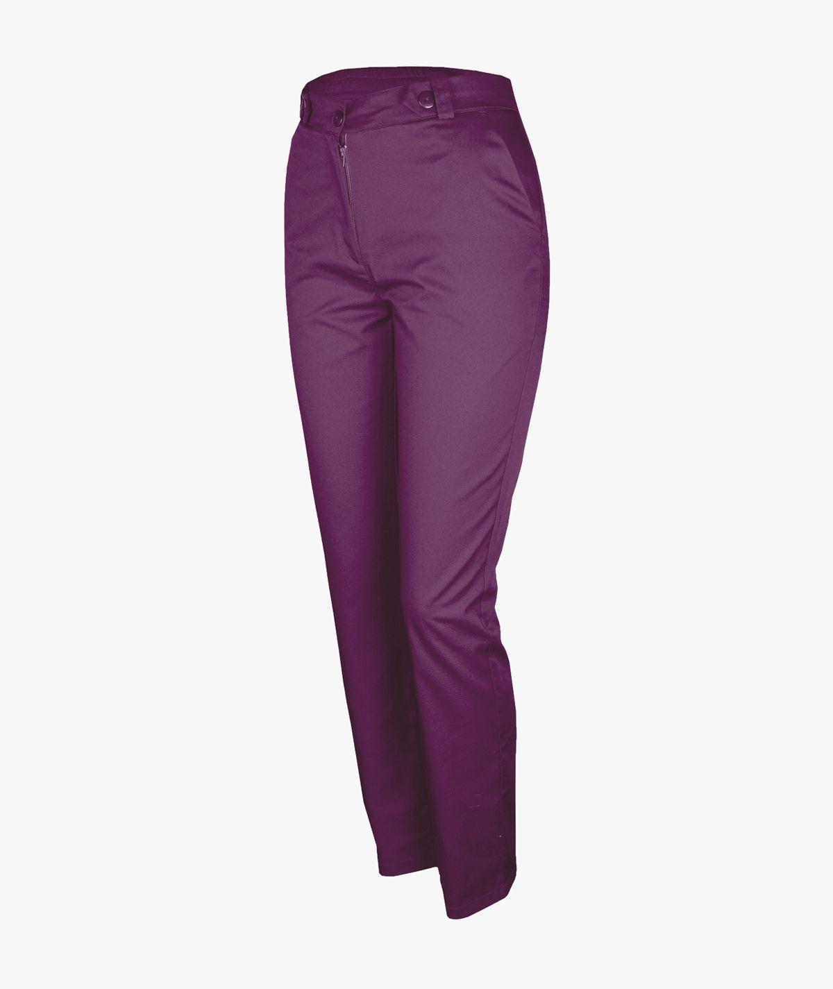 Bakłażanowe spodnie medyczne Mira