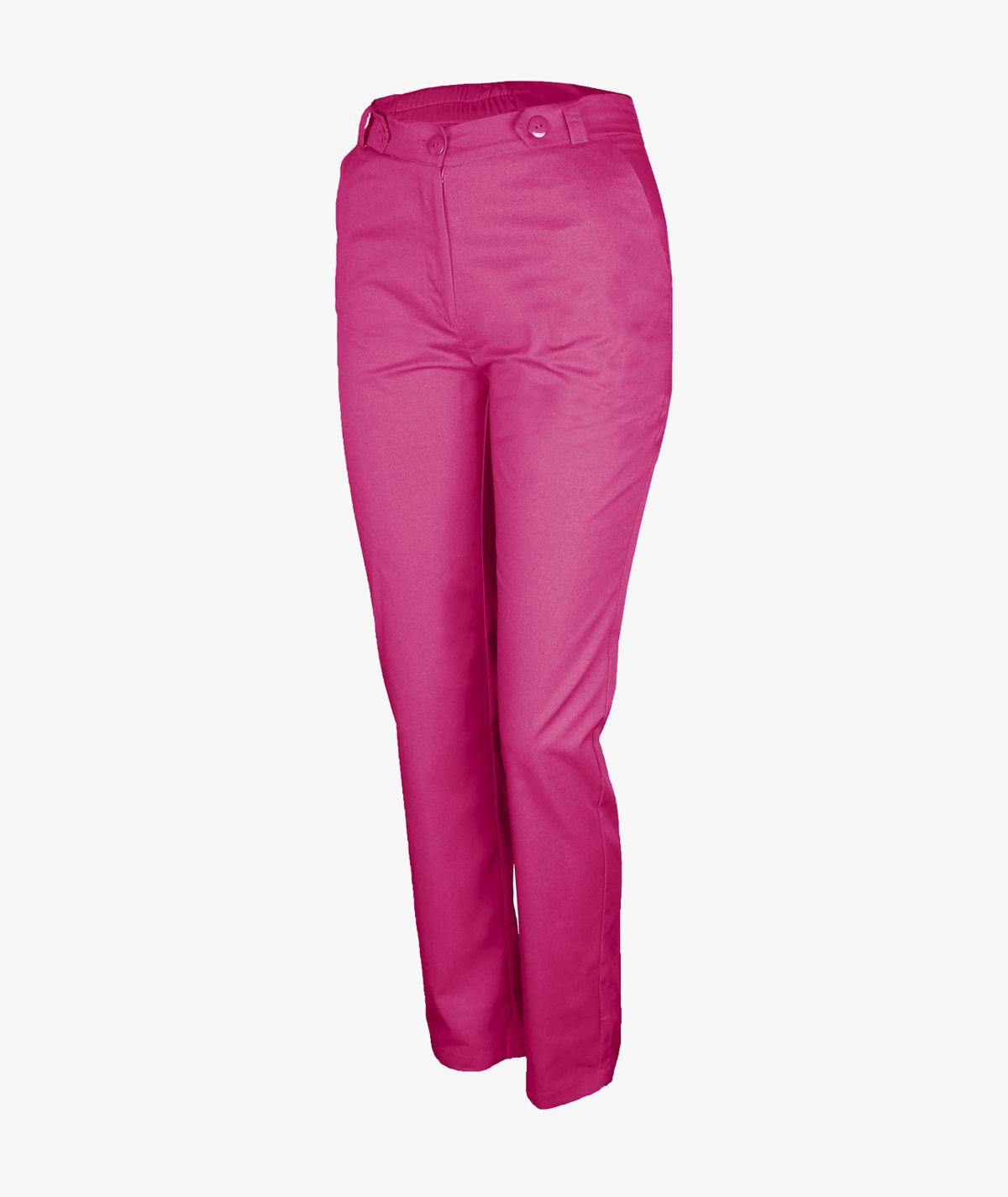 Malinowe spodnie medyczne Mira