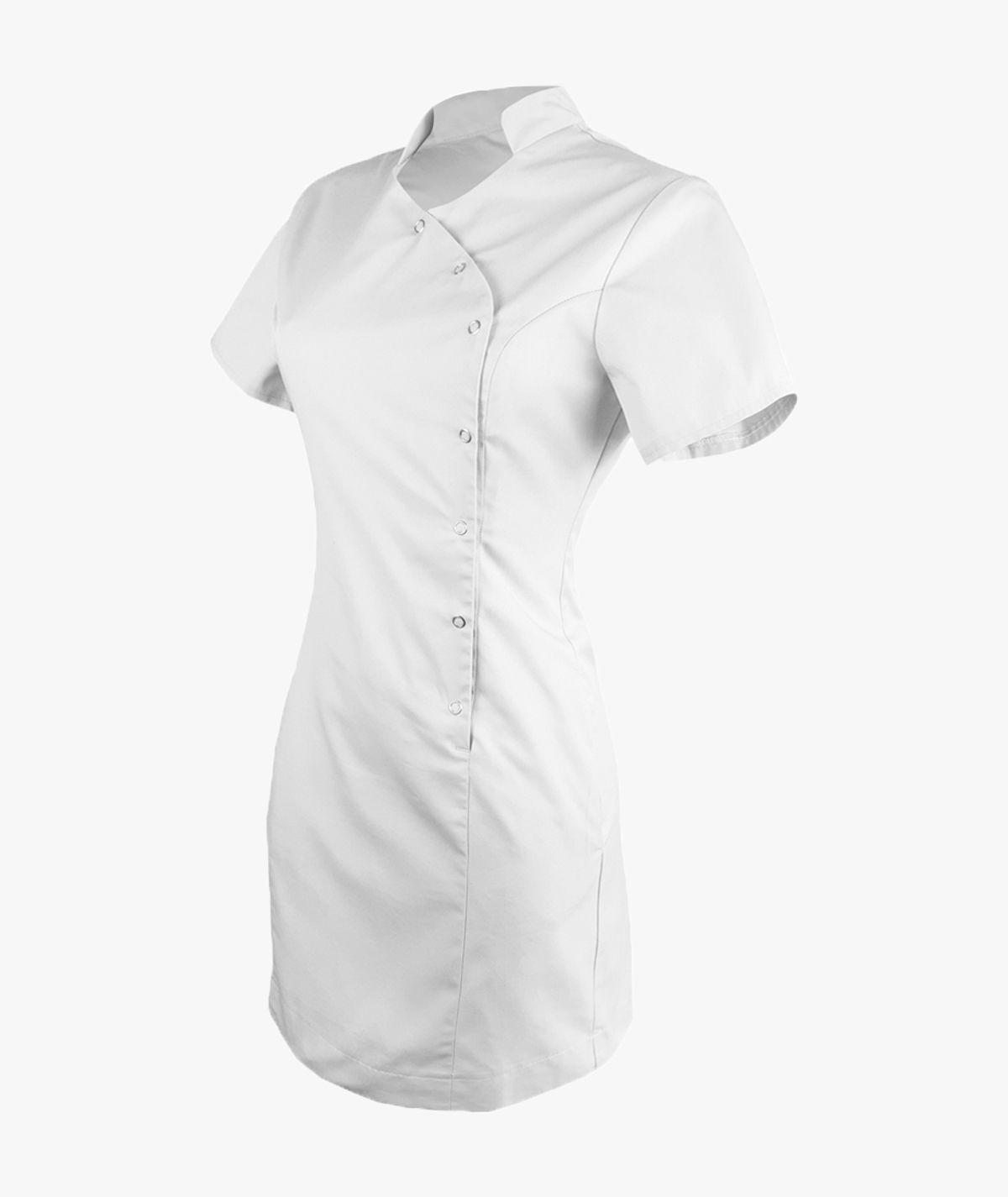 Biała sukienka medyczna Sonia