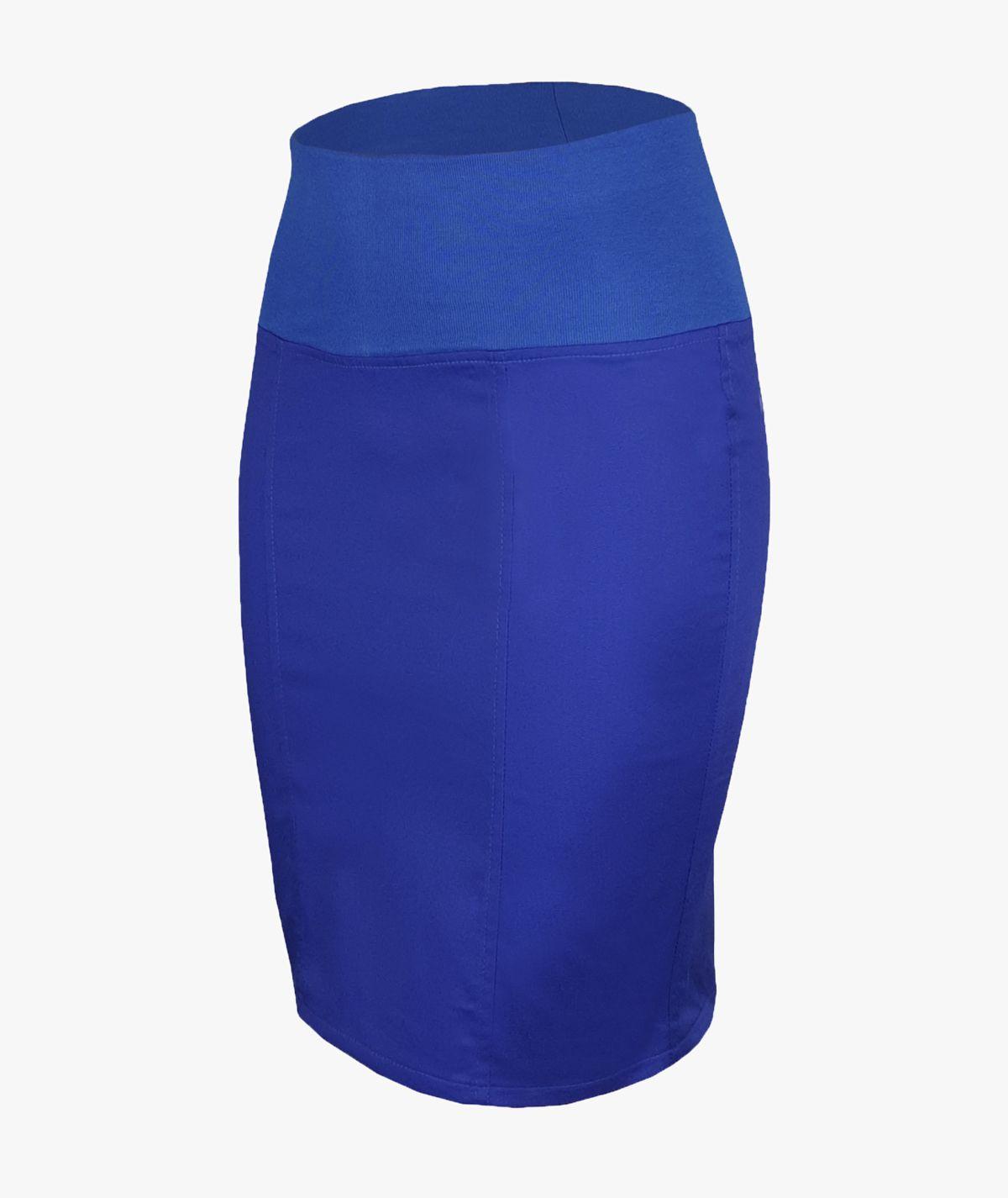 Szafirowa spódnica FLEXY medyczna ze ściągaczem